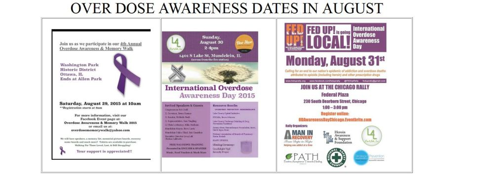 OVER DOSE AWARNESS DATES